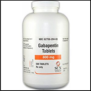 Treatment of neuropathic pain with gabapentin